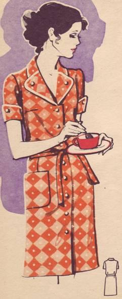 халат из хлопчатобумажной ткани для женщин среднего и старшего возраста