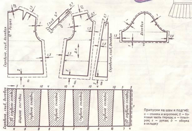 Выкройка блузки для девочки 38 размер фото 42