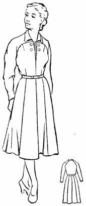 Платье зимнее покроя реглан