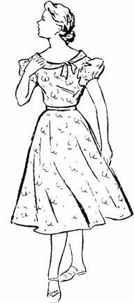 """платье с опущенным плечом и рукавом """"фонарик"""""""