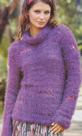 схемы вязания свитер из мохера спицами схема