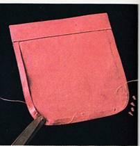 накладной карман с закругленными уголками